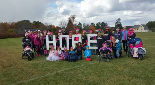 Picture of group who walked for Miles for Maggie