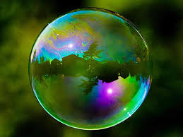 Bubble with nature reflected
